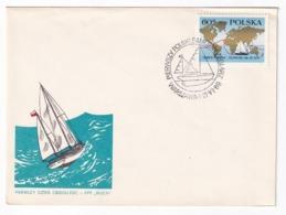 Poland 1969 Cover: Sailing, Segeln; Voile; Vela: Leonid Teliga, First Poland Solo Sail Arround The World - Sailing