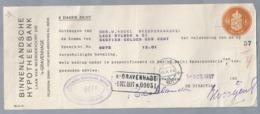 NL.- Betaal Bewijs Van De BINNENLANDSCHE HYPOTHEEKBANK. LAAN VAN MEERDERVOORT 249, 's-GRAVENHAGE. DEN HAAG. 1 OCT 1927. - Nederland