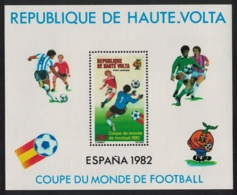 Upper Volta World Cup Football Championship Spain MS MNH SG#MS638 CV£5.5 SALE BELOW FACE VALUE - Obervolta (1958-1984)