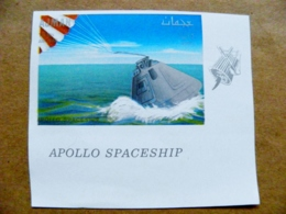 Proof Printing Imperforated Post Stamp UAE AJMAN Space Apollo Spaceship - Adschman