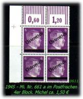 Österreich - Mi. Nr. 661 A - Im 4er Block - 1945-.... 2. Republik