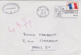 French Military: 2e Régiment Du Génie Cover Posted 57 Metz Gare Moselle 1971 To Paris (G103-16) - Militares