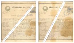 FRANCE Lot 2 Passeports à L'étranger   1919 - Decrees & Laws