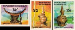 IMPERF. Djibouti 1977 - Repose Tete; Pipe A Eau; Cruche A Ablution:  Michel: 196-198; Yvert 460-462. - Djibouti (1977-...)