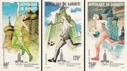 IMPERF. Djibouti 1980 - Jeux Olympiques De Moscou: Michel 273-275; Yvert 135-137. - Djibouti (1977-...)
