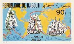 IMPERF. Djibouti 1980 - Les 3 Voyages De James Cook: Michel 288; Yvert 526. - Djibouti (1977-...)