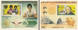 IMPERF. Djibouti 1982 - Philexfrance: Michel 335-336; Yvert 166-167. - Djibouti (1977-...)
