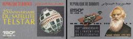 """IMPERF. Djibouti 1987 - Sattelite """"Telstar"""", Telegraphe Samuel Morse"""": Michel 498-499; Yvert 237-238. - Gibuti (1977-...)"""