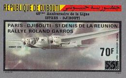 IMPERF. Djibouti 1987 - Paris-Djibouti-St.Denis De La Reunion Rally Roland Garros: Michel 510; Yvert 243. - Djibouti (1977-...)