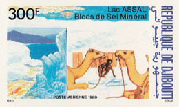 IMPERF. Djibouti 1989 - Lac ASSAL Blocs De Sel Mineral: Michel 528; Yvert 248. - Djibouti (1977-...)