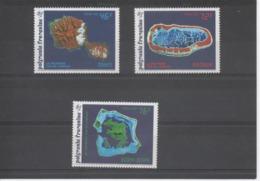 POLYNESIE Française - Espace - La Polynésie Vue De L'espace : Tahiti, Matalva, Bora-Bora - Année Internationale De L'Esp - Polynésie Française