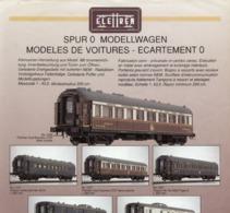 Catalogue ELETTREN LEMACO 1986 Infoblatt CIWL Spur O Modellwagen - En Allemand Et En Français - Books And Magazines