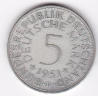 Wal_ Deutschland  - 5 DM - 1951 - F - [ 7] 1949-… : RFD - Rep. Fed. Duitsland