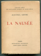 Jean-Paul SARTE  La Nausée 1951 édition Numérotée - Livres, BD, Revues