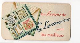 Carte Parfumée LES SAVONS DE G LEMOINE   (PPP20616) - Vintage (until 1960)