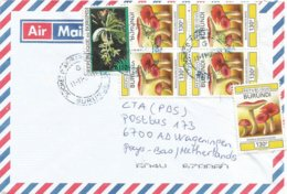 Burundi 2007 Bujumbura Mushroom Russula Sejuncta 130f Orchid Flower 110f Cover - Pilze
