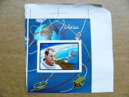 ERROR Proof Printing Imperforated M/s UAE AJMAN Space Astronaut Edward White Usa Overprint In Memoriam 1967 - Adschman