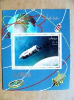 SPECIMEN Overprint On M/s UAE AJMAN Space Bostok Vostok Spaceship Ussr Russia - Adschman