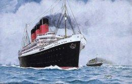 """John H. Fry  -  S. S. """"Paris"""",  French CGT Line,  34,569 Tons Built 1917. - Autres Illustrateurs"""