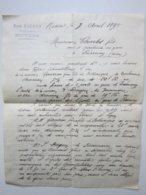 Jean MAUBON Représentant à Nevers (58) Lettre à Entête Du 7/04/1895 Signé - Old Professions