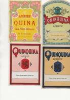 LOT DE 7 ETIQUETTES  DIFFERENTES QUINQUINA APERITIF. - Collections & Sets