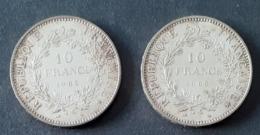 FRANCE - 10 Francs Argent 1965 - Non Nettoyées - France