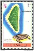 892 Tuvalu Tortue Turtle Carte Niulakita Map MNH ** Neuf SC (TUV-1a) - Tuvalu
