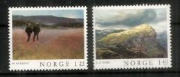 Paysages Norvégiens. 2 Timbres Neufs ** - Norvège