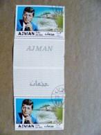 ERROR Proof Printing UAE AJMAN Usa President John Kennedy Champions Of Liberty - Adschman