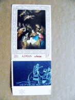 Proof Printing UAE AJMAN Art Painting Christmas Noel Navidad Notti - Adschman