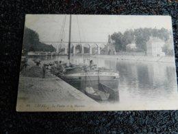 Laval, Le Viaduc Et La Mayenne, Péniche, Animée, 1914     (E9) - Laval