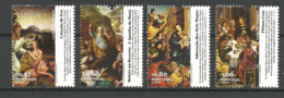 Portugal 2012 Word And Image In The Scriptures, Paintings Of Different Artists And Biblical Passages Mi 3702-3705, MNH - Neufs