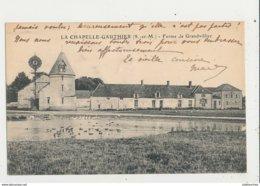 77 LA CHAPELLE GAUTHIER FERME DE GRANDVILLIER EOLIENNE CPA BON ETAT - Windmolens