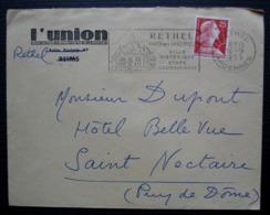 Rethel Ardennes 1959 L'Union (grand Quotidien D'information) - Storia Postale