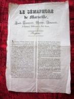 LE SÉMAPHORE FEUILLE MARITIME,COMMERCIALE,INDUSTRIELLE-ANNONCE JUDICIAIRE-AVIS-PROSPECTUS-LE+ANCIEN JOURNAL DE MARSEILLE - Kranten