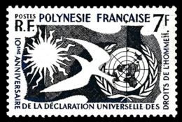 POLYNESIE 1958 - Yv. 12 *   Cote= 12,00 EUR - Déclaration Des Droits De L'Homme  ..Réf.POL24291 - Polynésie Française