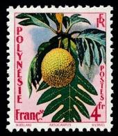POLYNESIE 1958 - Yv. 13 *   Cote= 5,70 EUR - Flore : Artocarpus  ..Réf.POL24292 - Polynésie Française