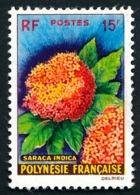 POLYNESIE 1962 - Yv. 15 *    à 5 % !Cote= 20,00 EUR - Fleurs : Saracea Indica  ..Réf.POL24294 - Polynésie Française