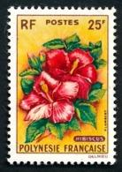 POLYNESIE 1962 - Yv. 16 *   Cote= 25,00 EUR - Fleurs : Hibiscus  ..Réf.POL24295 - Polynésie Française
