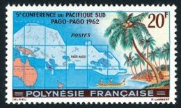 POLYNESIE 1962 - Yv. 17 **   Cote= 22,70 EUR - 5ème Conf. Pacifique-Sud  ..Réf.POL24296 - Polynésie Française