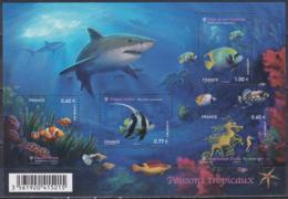 Frankreich France 2012 Tiere Fauna Animals Fische Fish Poissons Peces Pesci Clownfisch Tropen Seepferd, Bl. 175 ** - France