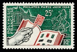 POLYNESIE 1964 - Yv. 26 **   Cote= 18,60 EUR - Expo Phil. PHILATEC'64, Paris  ..Réf.POL24301 - Polynésie Française