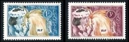 POLYNESIE 1964 - Yv. 27 Et 28 *   Cote= 1,60 EUR - Danseuse Tahitienne (2 Val.)  ..Réf.POL24302 - Polinesia Francese