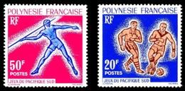 POLYNESIE 1963 - Yv. 22 Et 23 **   Cote= 29,00 EUR - Jeux Pacifique-Sud : Football Et Javelot (2 Val.)  ..Réf.POL24298 - Polynésie Française