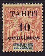 Tahiti N° 32d  Neuf * - Voir Verso & Descriptif - Tahiti (1882-1915)