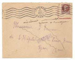 Timbre 1f50 Pétain, Surgargé R.F.-Obli. DEC.1944- Cachet Bleu: INADMIS- écrit à La Main: Inadmis Retour à L'envoyeur-WW2 - Liberación