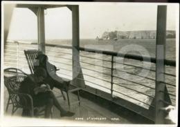 1900s  ORIGINAL PHOTO FOTO SHIP LINER SAGRES ALGARVE PORTUGAL - Places