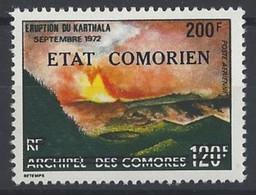 COMORES VOLCANS, Volcan, Geologie, Yvert PA 87  Rousseur - Volcanos