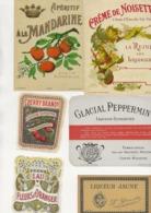 LOT DE 6 ETIQUETTES  DIFFERENTES LIQUEURS - Collections & Sets