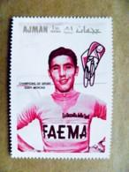 ERROR Proof Printing Missing Colors UAE AJMAN Sport Cycling Champions Of Sport Eddy Merckx Faema Bicycle - Adschman